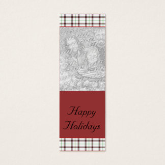 Customizable Christmas/Hanukkah Photo Bookmark Mini Business Card