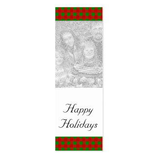 Customizable Christmas/Hanukkah Photo Bookmark Mini Business Card