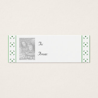 Customizable Christmas/Hanukkah Photo Gift Tag