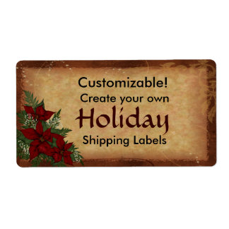 Customizable Christmas Holiday Package Labels