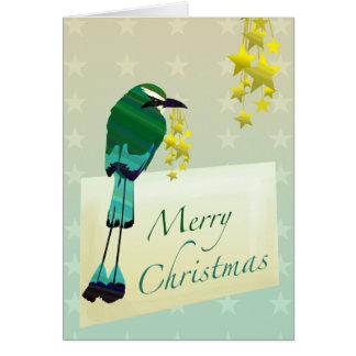 Customizable: Christmas Motmot! Card