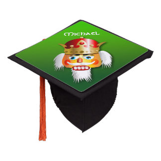 Customizable Christmas Nutcracker King Graduation Cap Topper