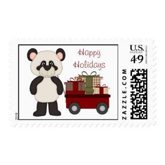 Customizable Christmas Panda Gifts and Tees Stamp