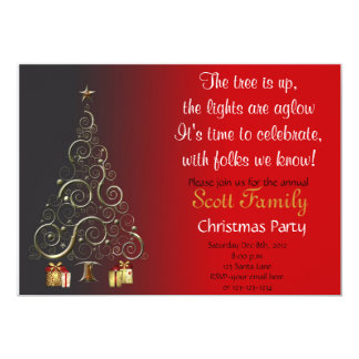 Customizable Christmas Party Invite