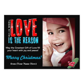 Customizable Christmas Photo Greeting Card 5x7