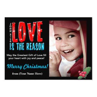 Customizable Christmas Photo Greeting Card 5x7