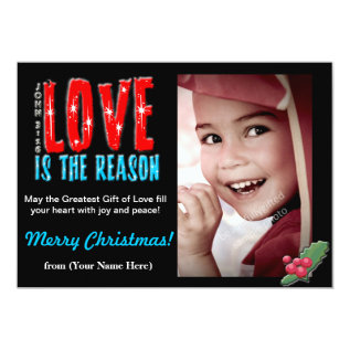 Customizable Christmas Photo Greeting Card 5x7 at Zazzle
