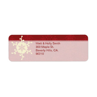 Customizable Christmas Return Address Label