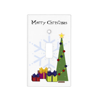 Customizable Christmas Tree and Gifts Light Switch Cover