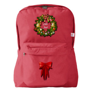 Customizable Christmas Wreath Backpack