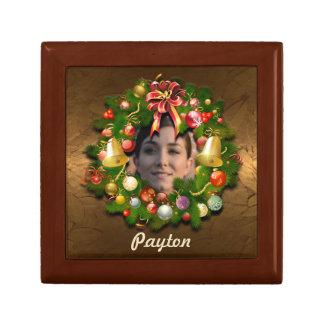 Customizable Christmas Wreath Keepsake Box