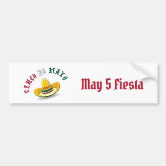 Customizable Cinco de Mayo May 5 Fiesta Bumper Sticker