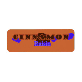 Customizable Cinnamon Raisin Bakery Labels