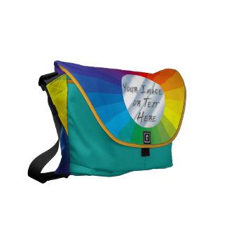Customizable Circle Frame: Spectrum Collection Messenger Bag