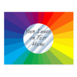 Customizable Circle Frame: Spectrum Collection Postcards