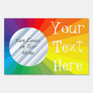 Customizable Circle Frame: Spectrum Collection Sign