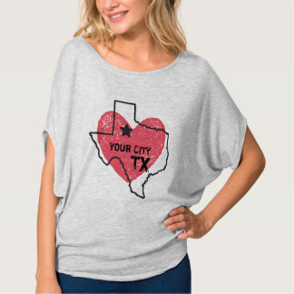 Customizable City, Texas State T-shirt