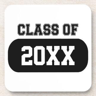 "Customizable ""Class of 20XX"" Grad Beverage Coaster"