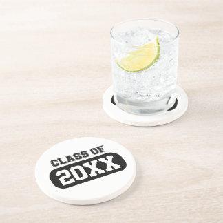 "Customizable ""Class of 20XX"" Grad Drink Coaster"