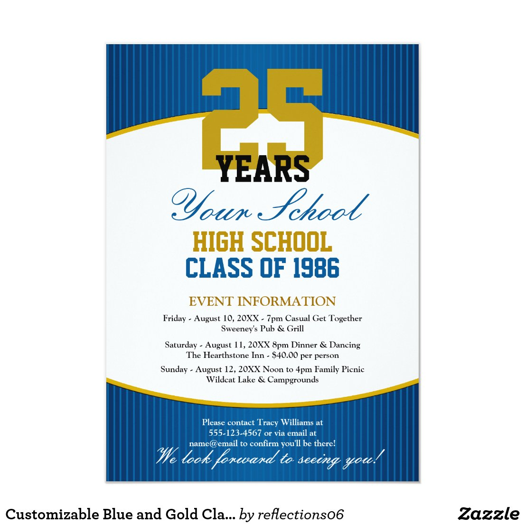 Customizable Class Reunion Invitation