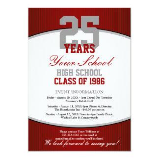 Customizable Class Reunion 5x7 Paper Invitation Card