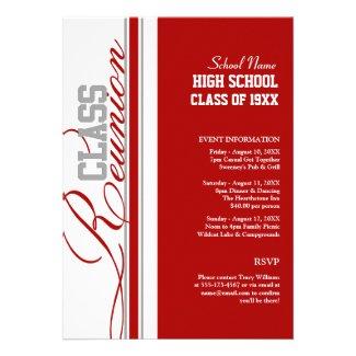 Customizable Class Reunion Invitations