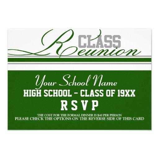 Customizable Class Reunion RSVP Personalized Invitations