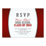 Customizable Class Reunion RSVP Personalized Announcements