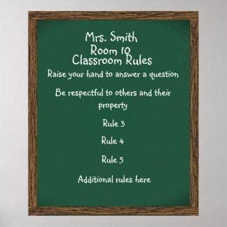 CUSTOMIZABLE Classroom Chalkboard Poster