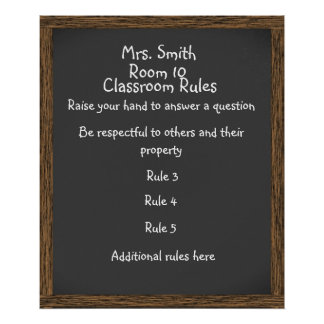 CUSTOMIZABLE Classroom Chalkboard Poster