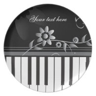 Customizable Classy Piano Plate