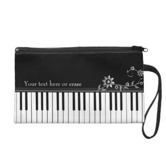 Customizable Classy Piano Wristlet