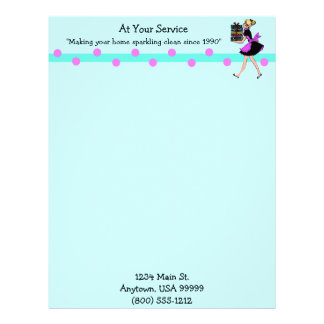 Customizable Cleaning Service Letterhead