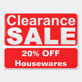 Customizable Clearance Sale Sign for Stores