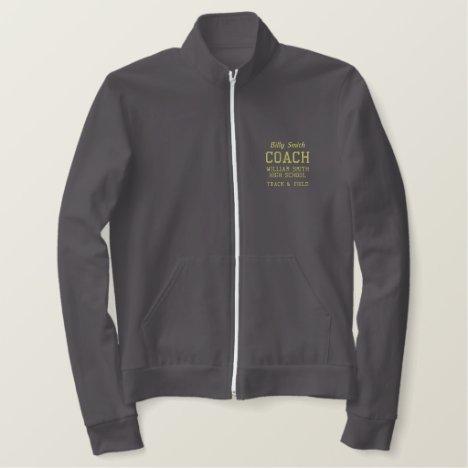Customizable Coach Fleece Track Jacket
