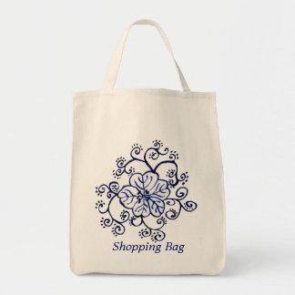 Customizable Cobalt Blue Scroll Bag