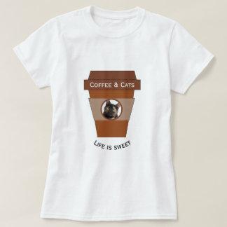 Customizable Coffee & Cats - Life is Sweet T-Shirt