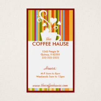Customizable Coffee Shop Business Cards