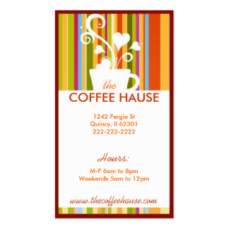 Customizable Coffee Shop Business Cards