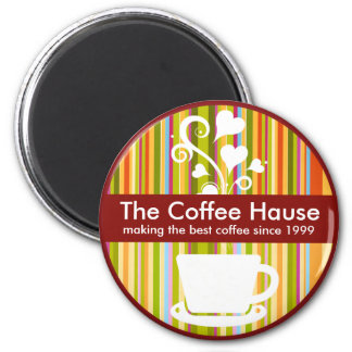 Customizable Coffee Shop Magnet