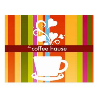 Customizable Coffee Shop Post Cards