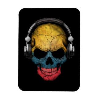 Customizable Colombian Dj Skull with Headphones Magnet