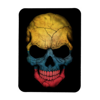 Customizable Colombian Flag Skull Magnets