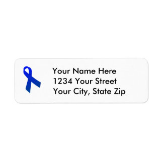 Customizable Colon Cancer Awareness Address Label