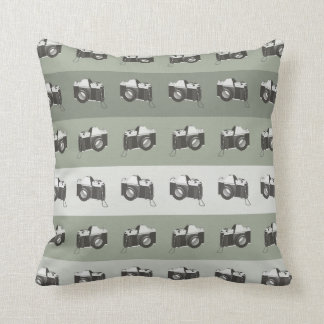 CUSTOMIZABLE COLOR - Classic Camera - Ash Grey Throw Pillow