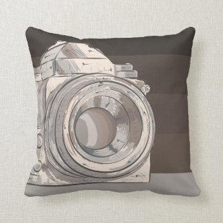 CUSTOMIZABLE COLOR - Classic Camera - Beaver Throw Pillow