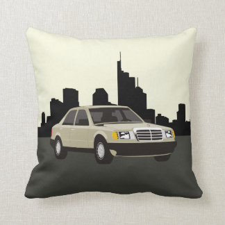 CUSTOMIZABLE COLOR - Classic Car Frankfurt Skyline Throw Pillow