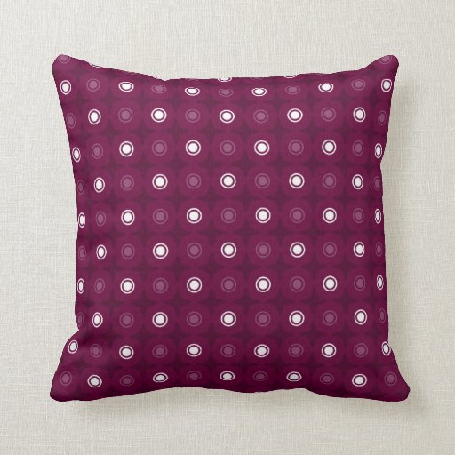 CUSTOMIZABLE COLOR - Geometric Pattern - Burgundy Throw Pillow Zazzle