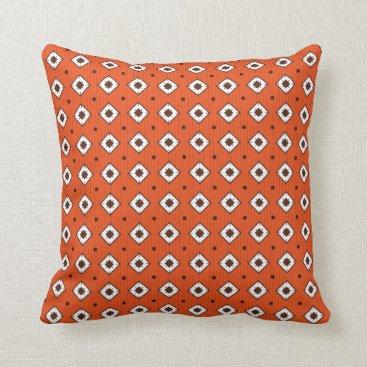 Beach Themed CUSTOMIZABLE COLOR - Geometric Pattern - Orange Throw Pillow