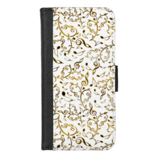 Customizable Color Gold 'n Bronze Music Notes iPhone 8/7 Wallet Case